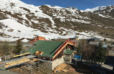 Tignes Chalet Extension new roof